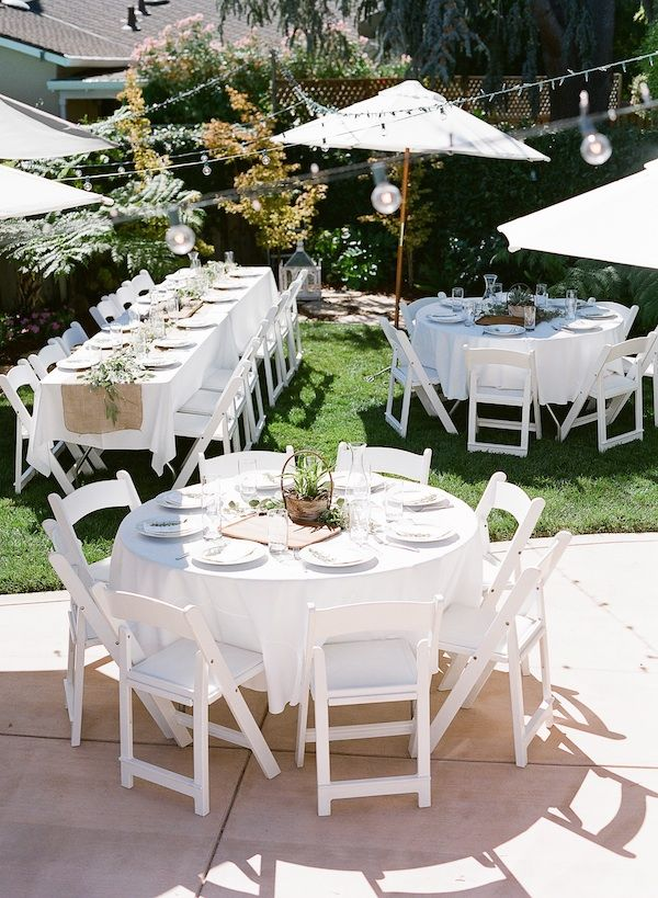 Loving The Different Shaped Tables Being Used Love A Long Table But Ant Go Past Outdoor Baby Shower Bridal Shower Tables Backyard Bridal Showers
