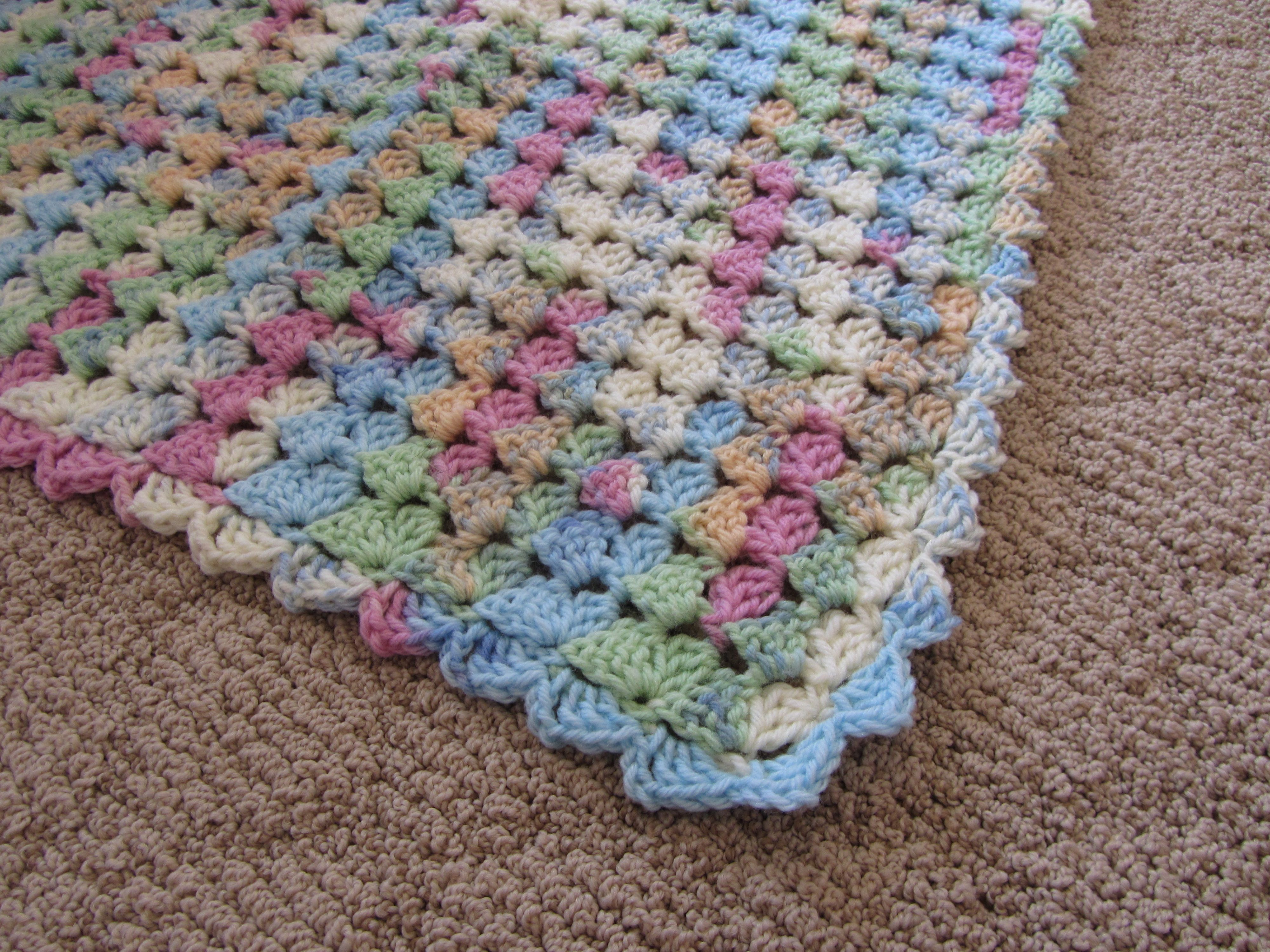 Variegated Yarn Baby Blanket Crocheted Best Baby Blanket