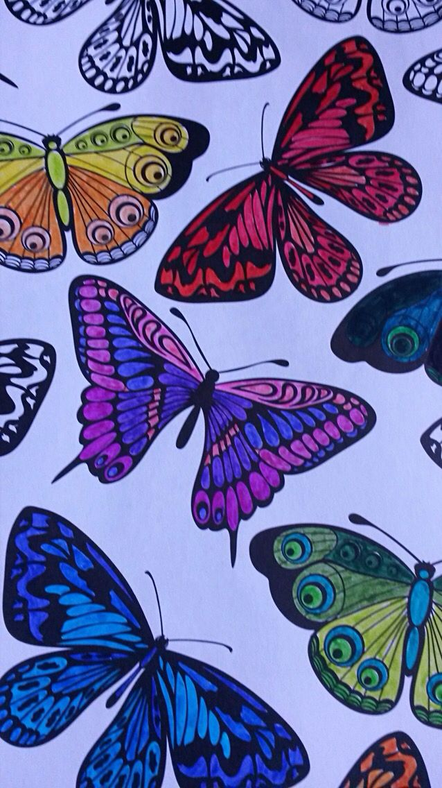 How To Color With Pens And Achieve A Professional Finish Tips And Suggestions Here Enjoy Reading Coloring Book Art Butterfly Coloring Page Colorful Drawings
