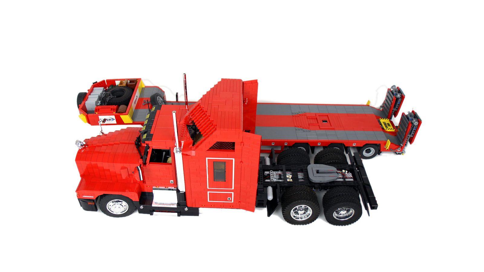 Kenworth T600 | Lego truck, Lego, Trucks