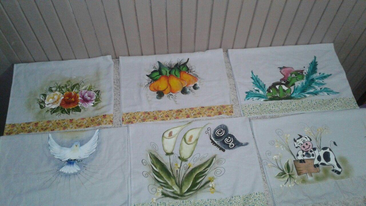 Toalhas de louça decorativas.