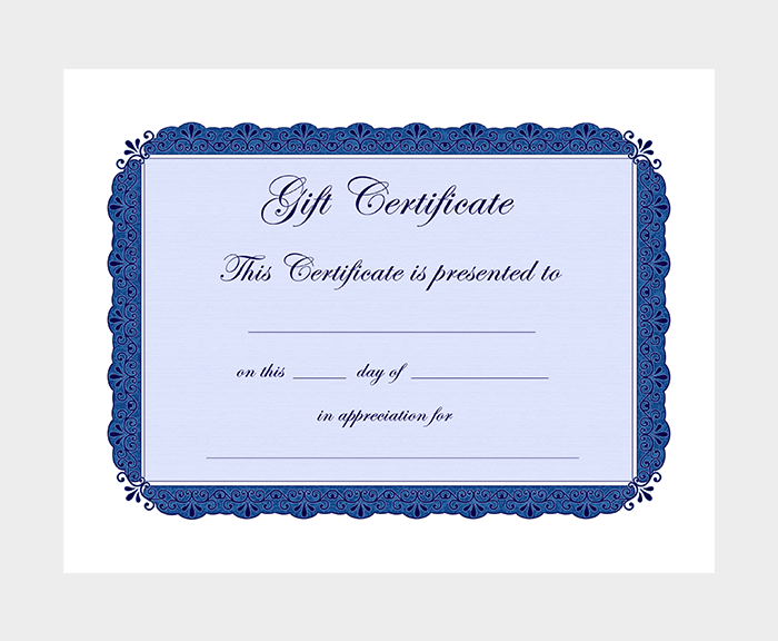 44 free printable gift certificate templates for word pdf