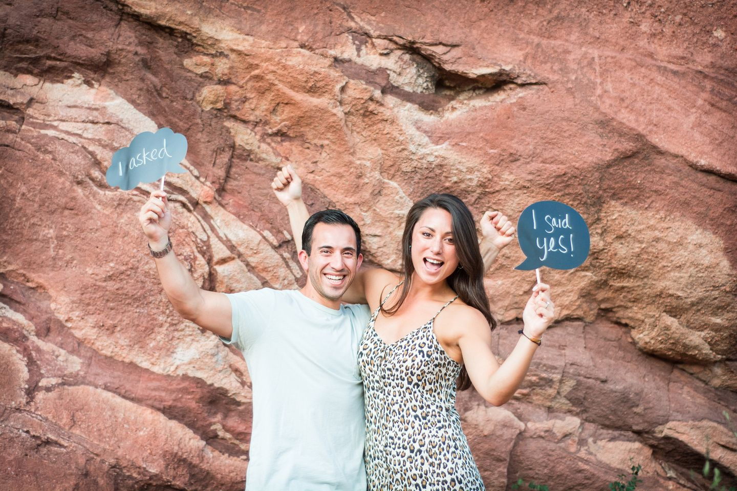 Proposal at Red Rocks, Colorado. Photos by High Altitude Photography