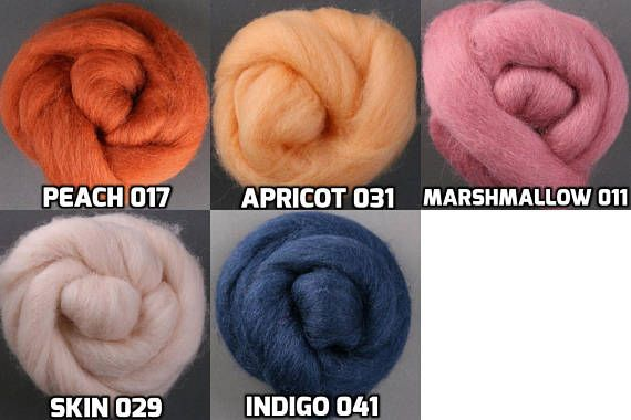 Wool Roving 1oz Flesh