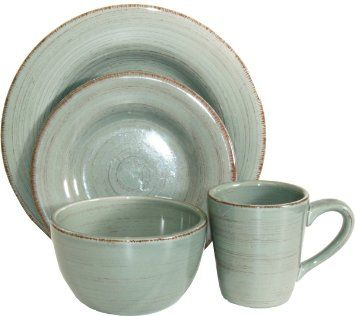 Tag Sonoma Ironstone Ceramic Dinnerware Set Service For Slate Blue By Tag Ltd  sc 1 st  Pinterest & Amazon.com: Tag Sonoma Ironstone Ceramic 16-Piece Dinnerware Set ...