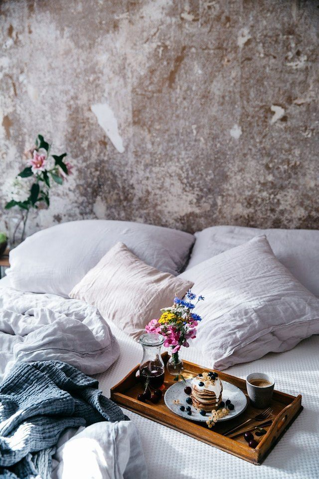 breakfast in bed #breakfast As the first meal of the day, we think that breakfast deserves to be celebrated. Treat yourself to a chic and luxurious breakfast in bed, and watch all of your friends suffer from a serious case of FOMO.
