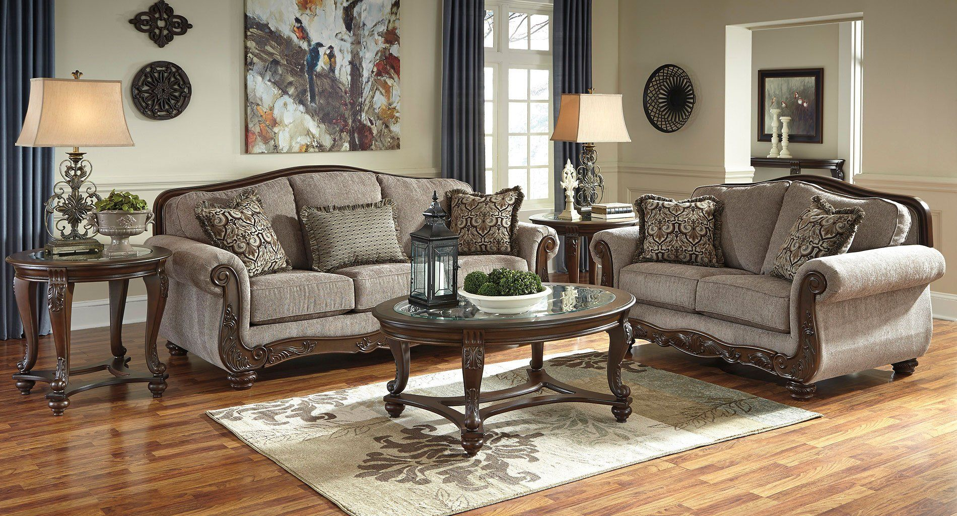 Style And Substance Isn T Just A Catch Phrase In The Cecilyn Cocoa Living Room Set By Signature Design Living Room Sets Living Room Designs Couch And Loveseat