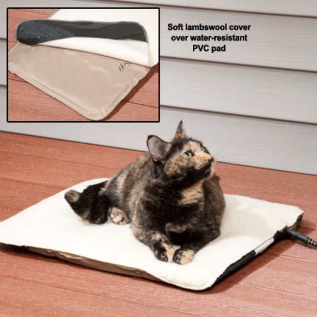 Heated Cat Beds Indoor Outdoor Heated Pad For Cats Pets Cat Bed Cats