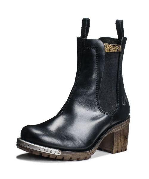 Sztyblety Na Grubym Obcasie Fly London Logger Luz P143521000 Fly London Chelsea Boots Boots