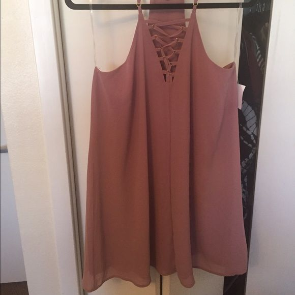 Charlotte Russe NWT lace up dress Never worn!! NWT. Lace up dress Charlotte Russe Dresses