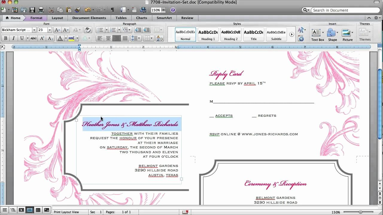 Make An Invitation In Word Elegant How To Customize An Invitation Template In Microsoft Wo In 2020 Invitation Templates Word Invitation Template Invitation Card Design Make an invitation in word