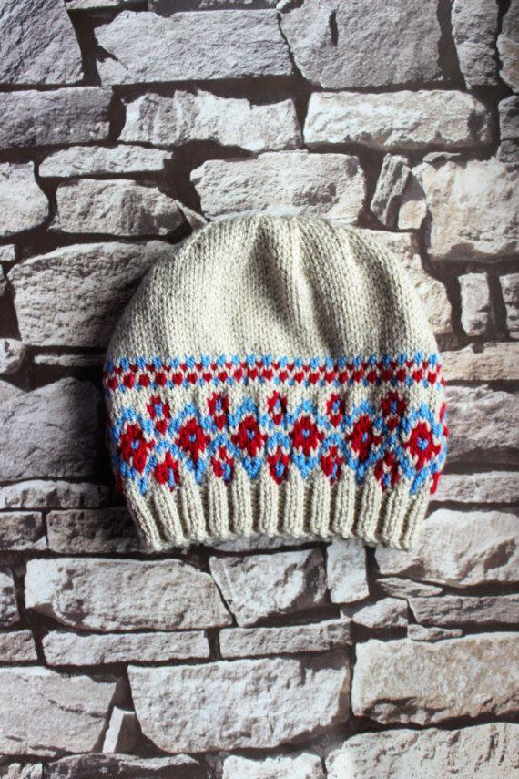 Men's Fairisle beanie for sale on Etsy copyright Emily Spenceley Emravel 2017 https://www.etsy.com/uk/listing/509969053/mens-fair-isle-hand-knitted-beanie-hat?ref=shop_home_active_1