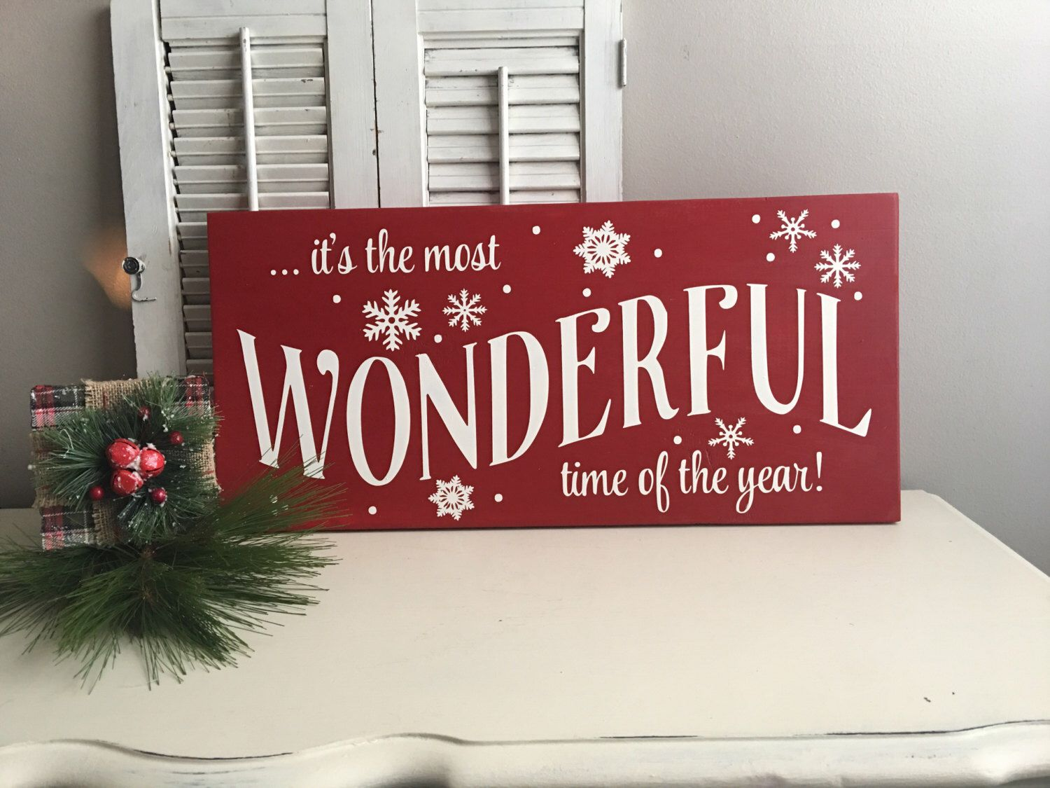its a wonderful life wood sign christmas wood signs christmas decorations christmas signs - Christmas Wooden Signs