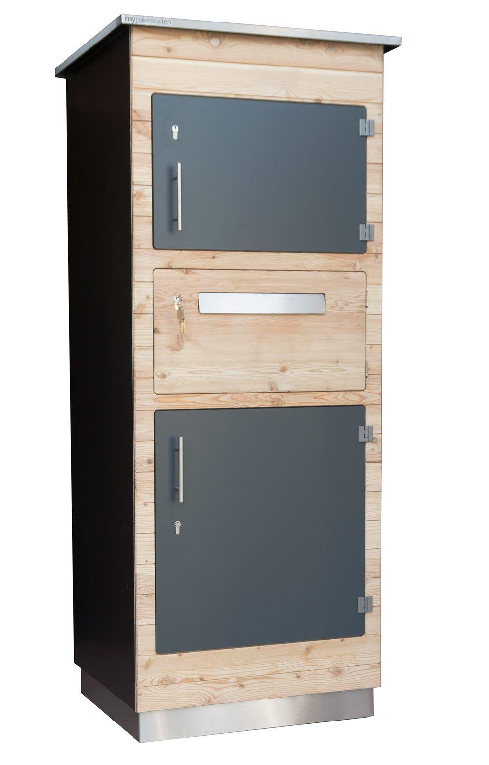 Paketbox Mit Hintertur Paketkasten Mulltonnenbox Selber Bauen Paketbriefkasten