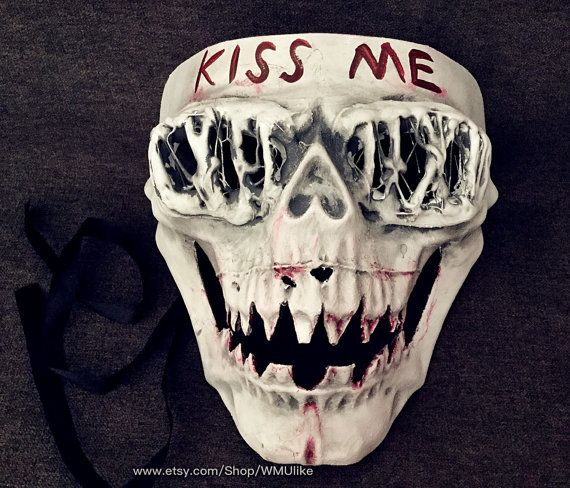 the purge 3 election year mask halloween costume cosplay anarchy purge movie kiss me mask - Purge Anarchy Masks For Halloween