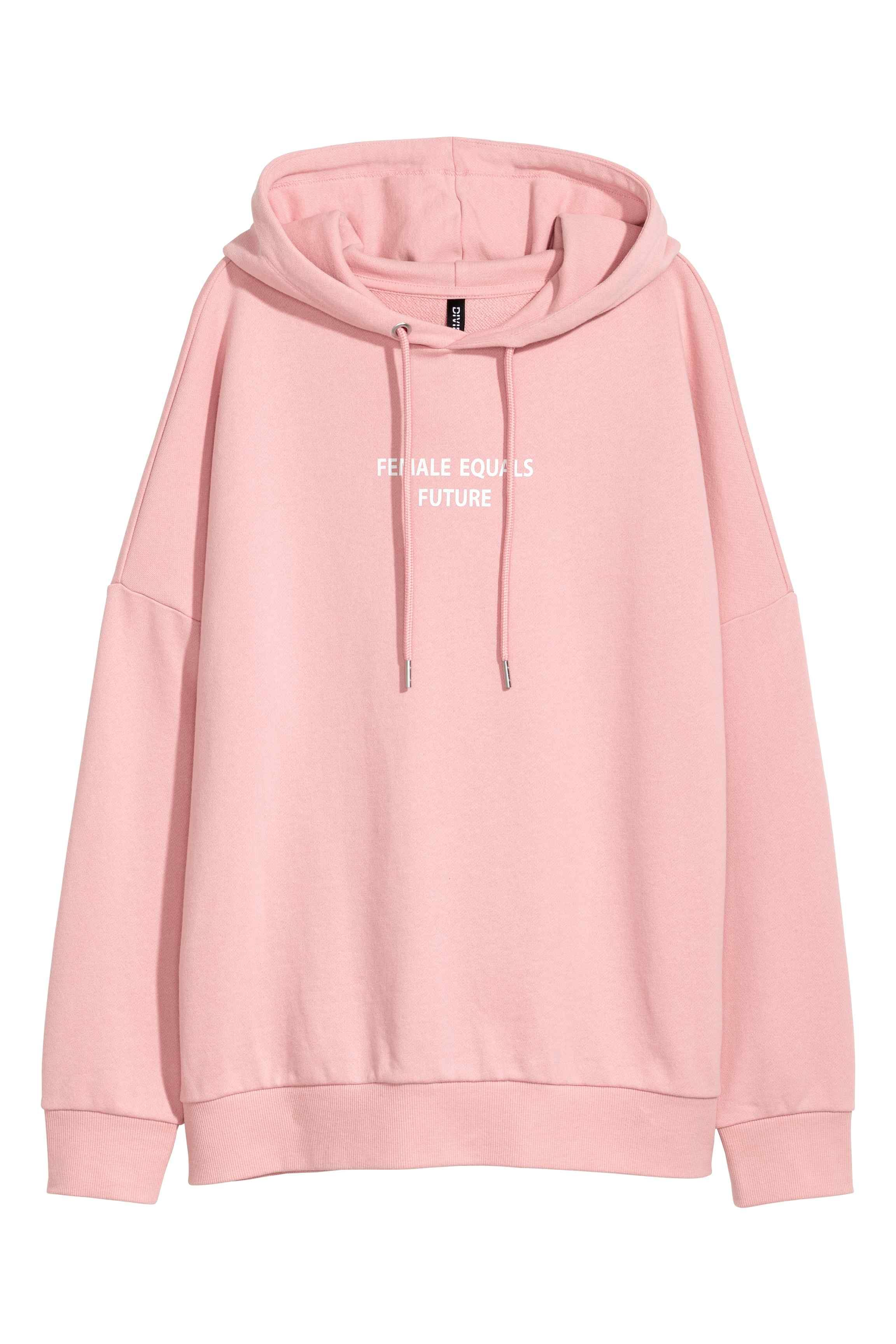sweat long femme a capuche rose adidas