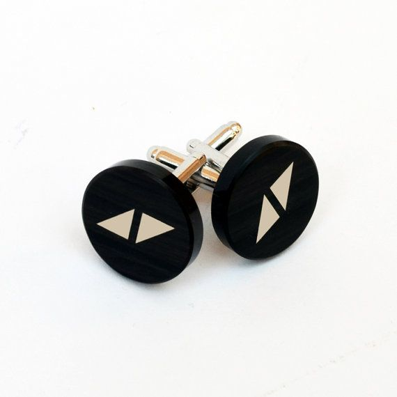 cuff links box included Avicii logo cuff links made from natural obsidian cuff links for men