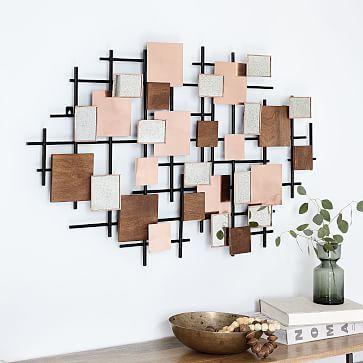 Mirror Landscape Wall Art Westelm Decor Wall Art Designs Wood
