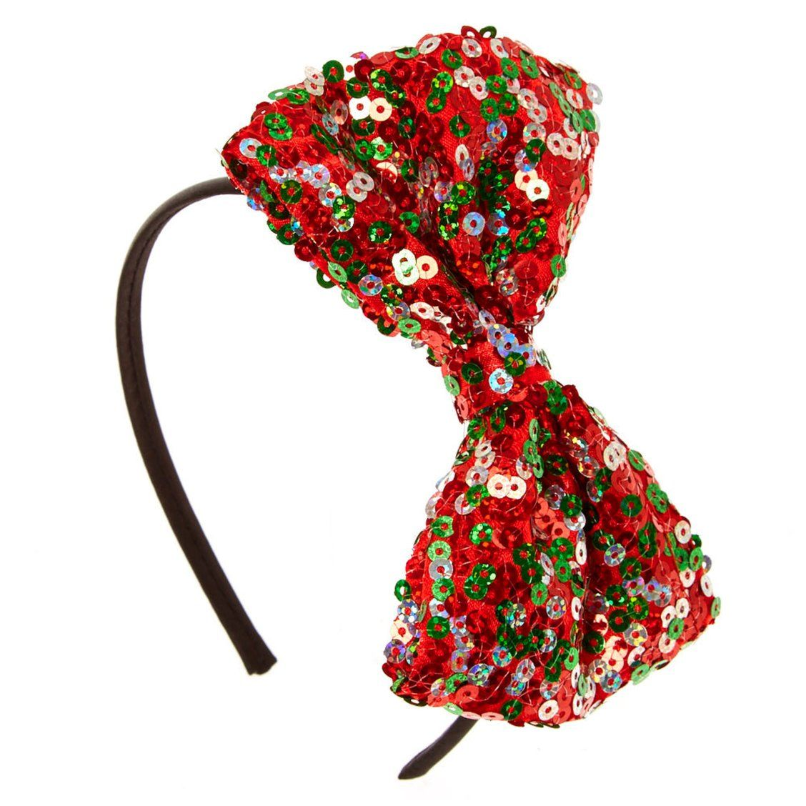 Ladies Sequin Bow Headband Women/'s Fancy Dress Christmas Headband Accessories