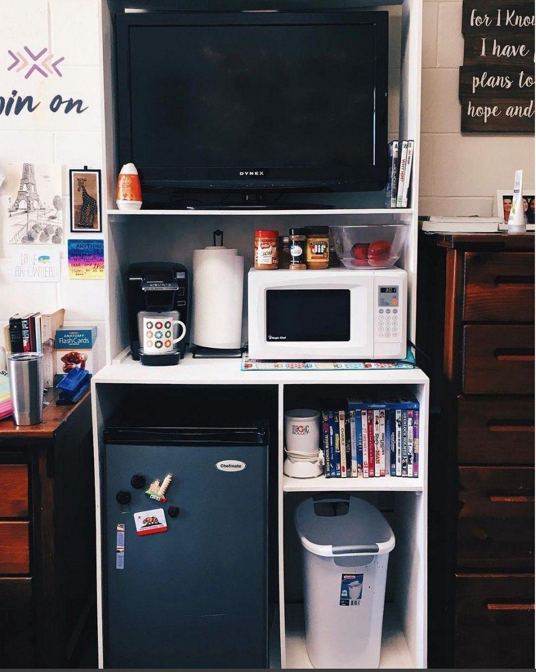 Cool 12+ Brilliant Dorm Room Organization Ideas On A Budget #collegedormroomideas
