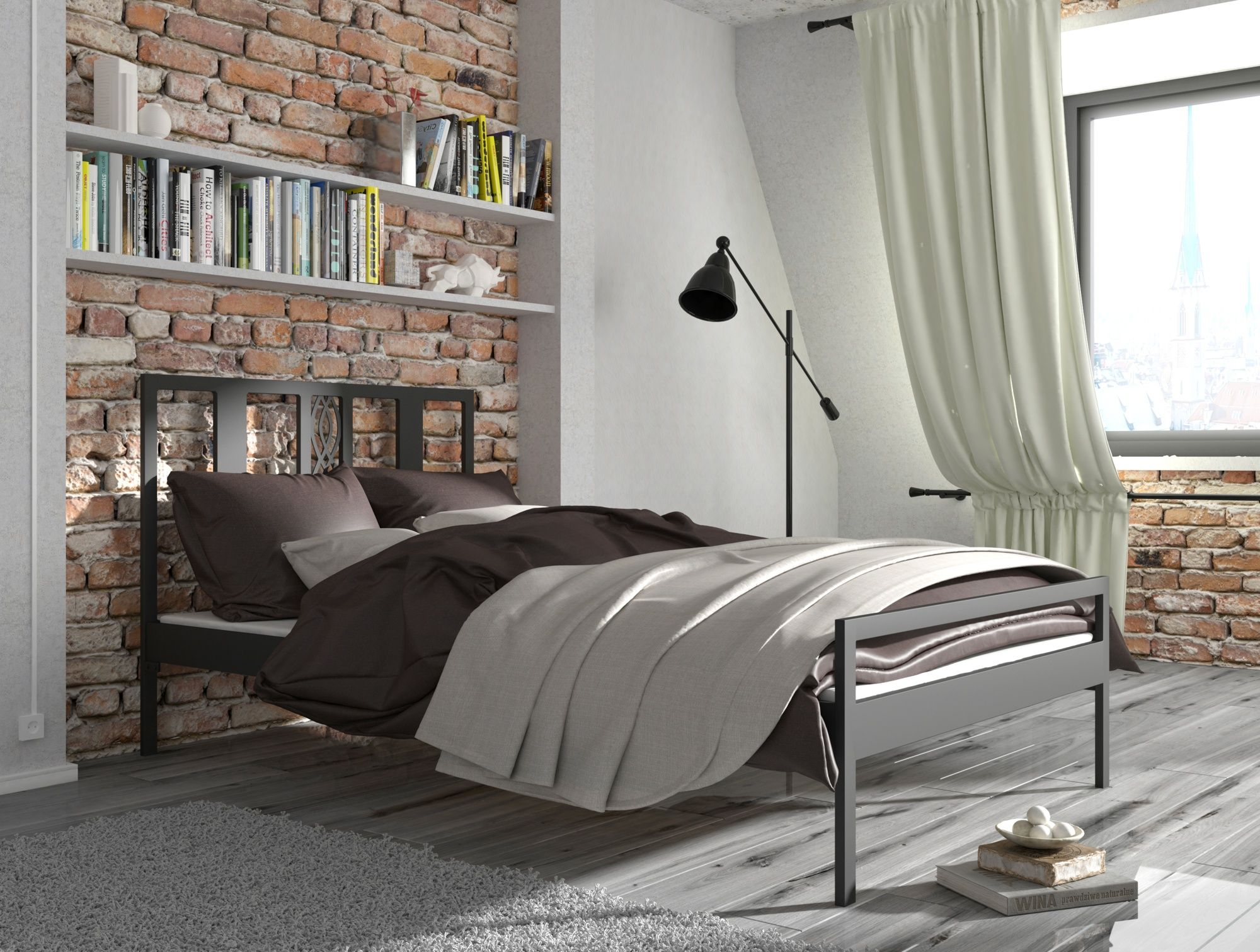 łóżko Metalowe Lak System Wzór 32 Styl Nowoczesny