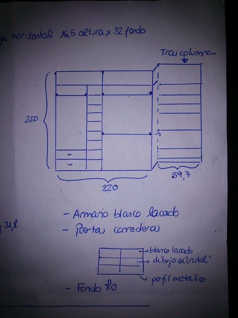 Pin de encina casti eiras amigo en armarios empotrados - Puerta corredera cristal barata ...
