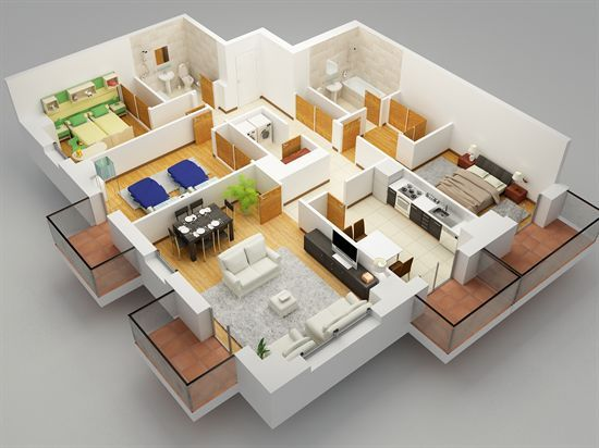 Planos 3d casas buscar con google dise os de casas de dos plantas pinterest sims house - Diseno de casa en 3d ...