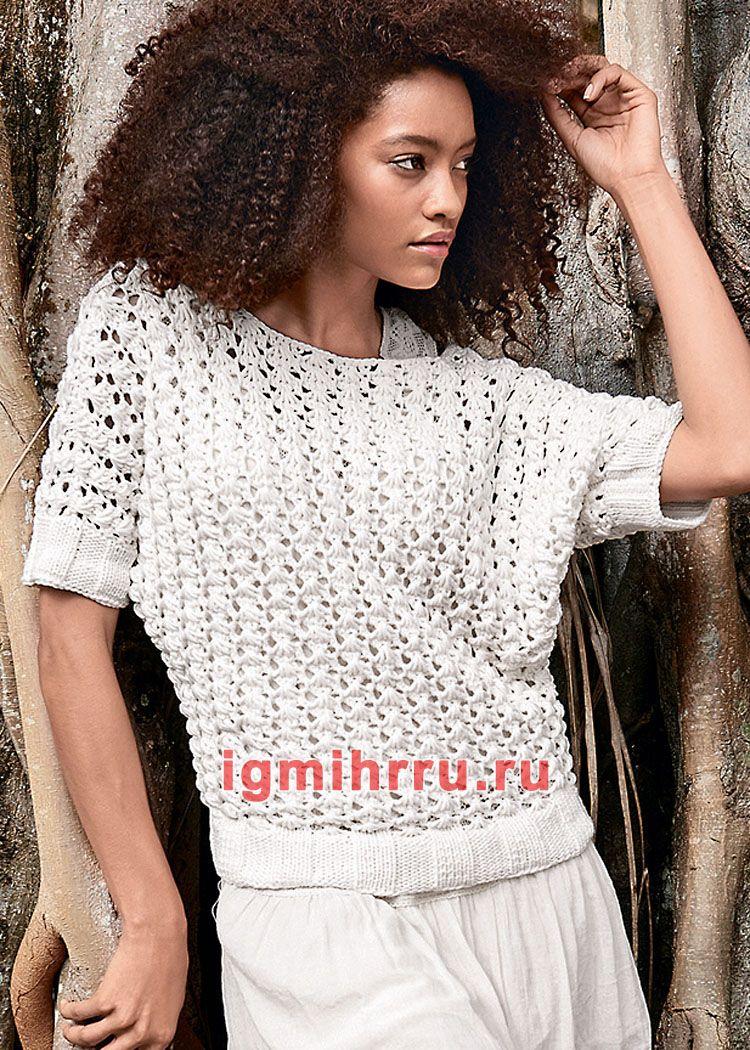 связать блузку спицами для женщины новые