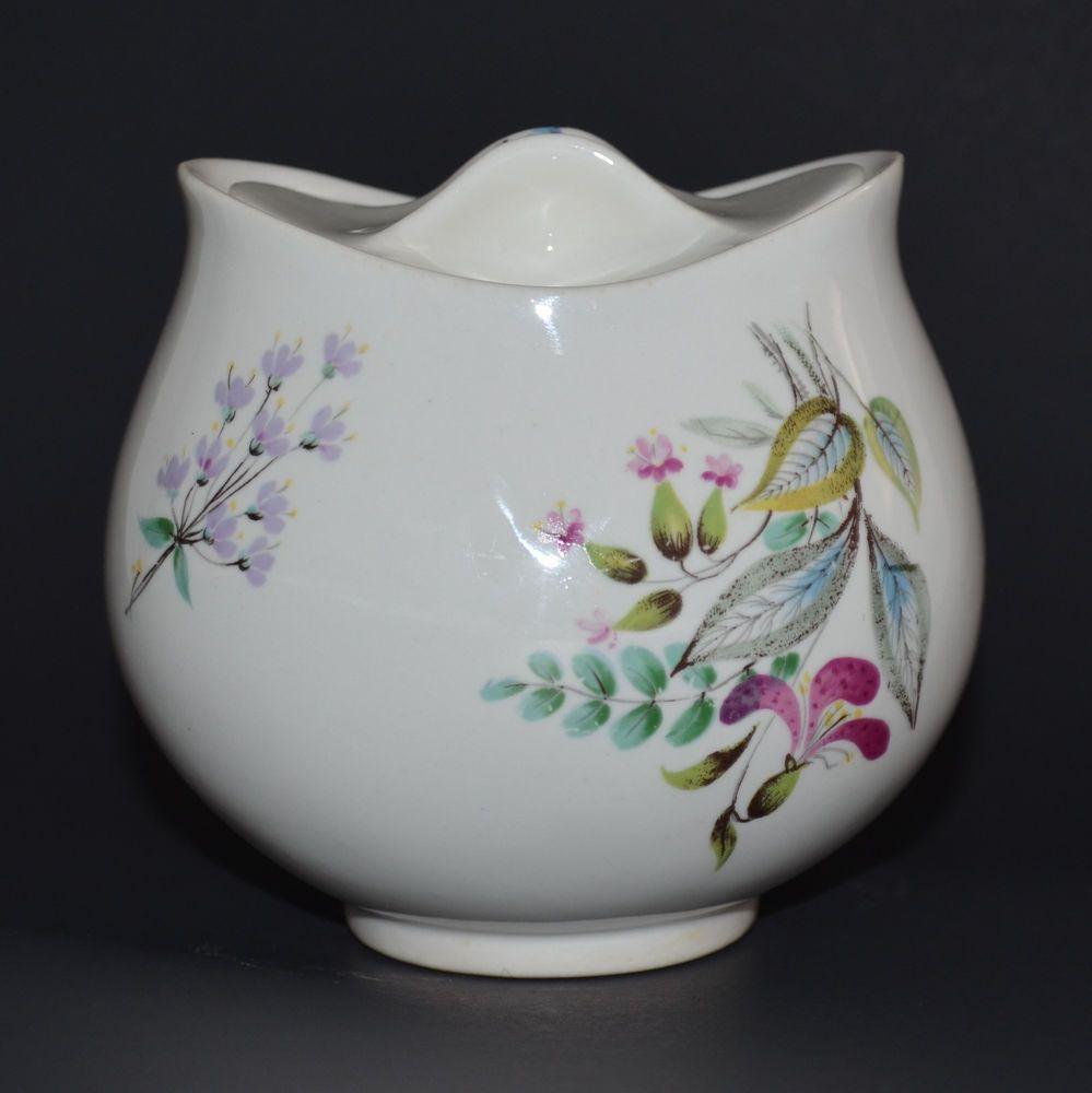 VTG Eva Zeisel Sugar Bowl w/ lid Wildflower Bouquet Hall China Hallcraft MCM