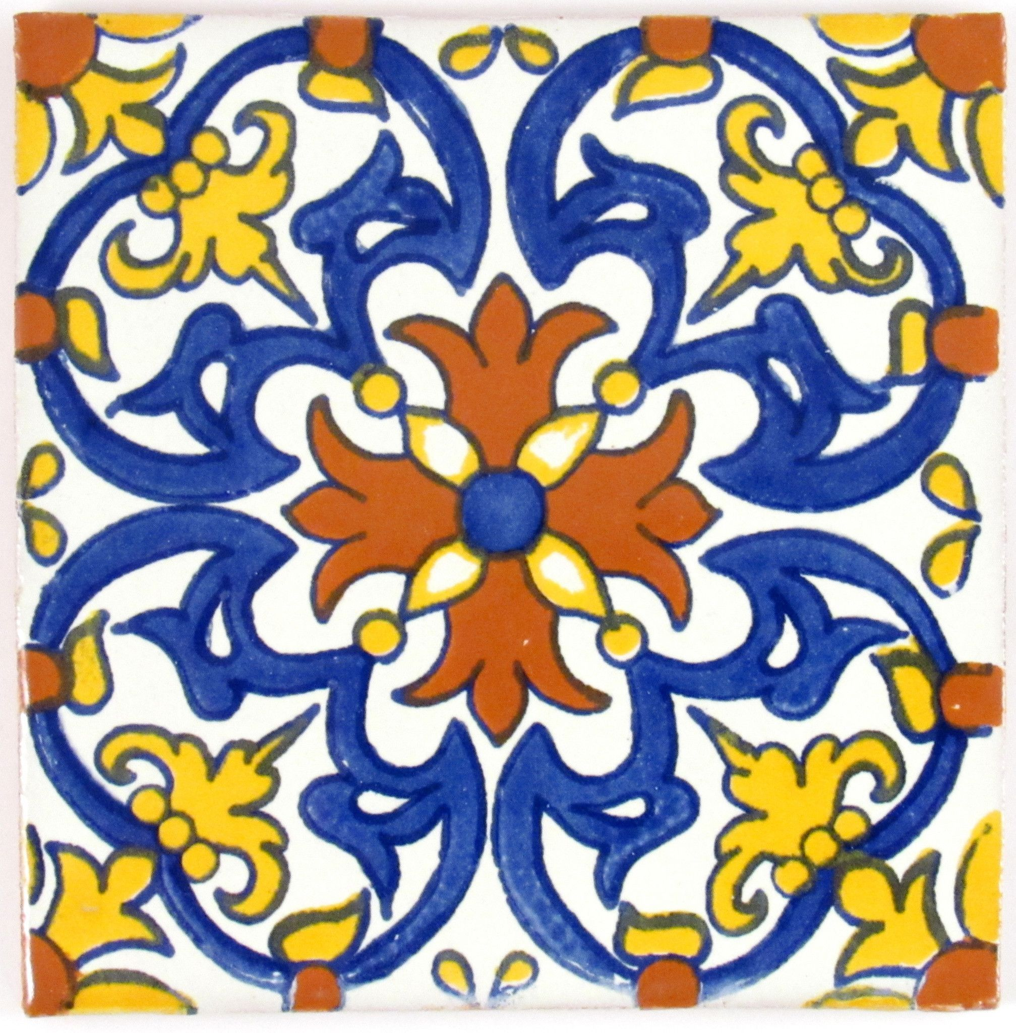 Badezimmer ideen blau mexican tile