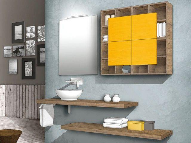 Qubo 140 composizione 40 mobili bagno componibili qubo - Mobili bagno profondita 40 ...