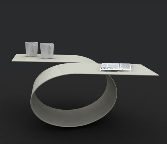 Futuristic Coffee Table With Amazing Curves Loop By Baita