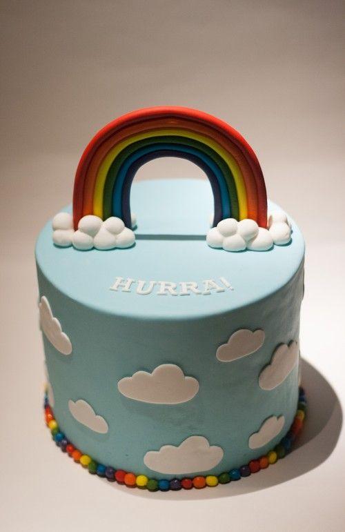 Rainbow Cake Cumpleanos Cumple