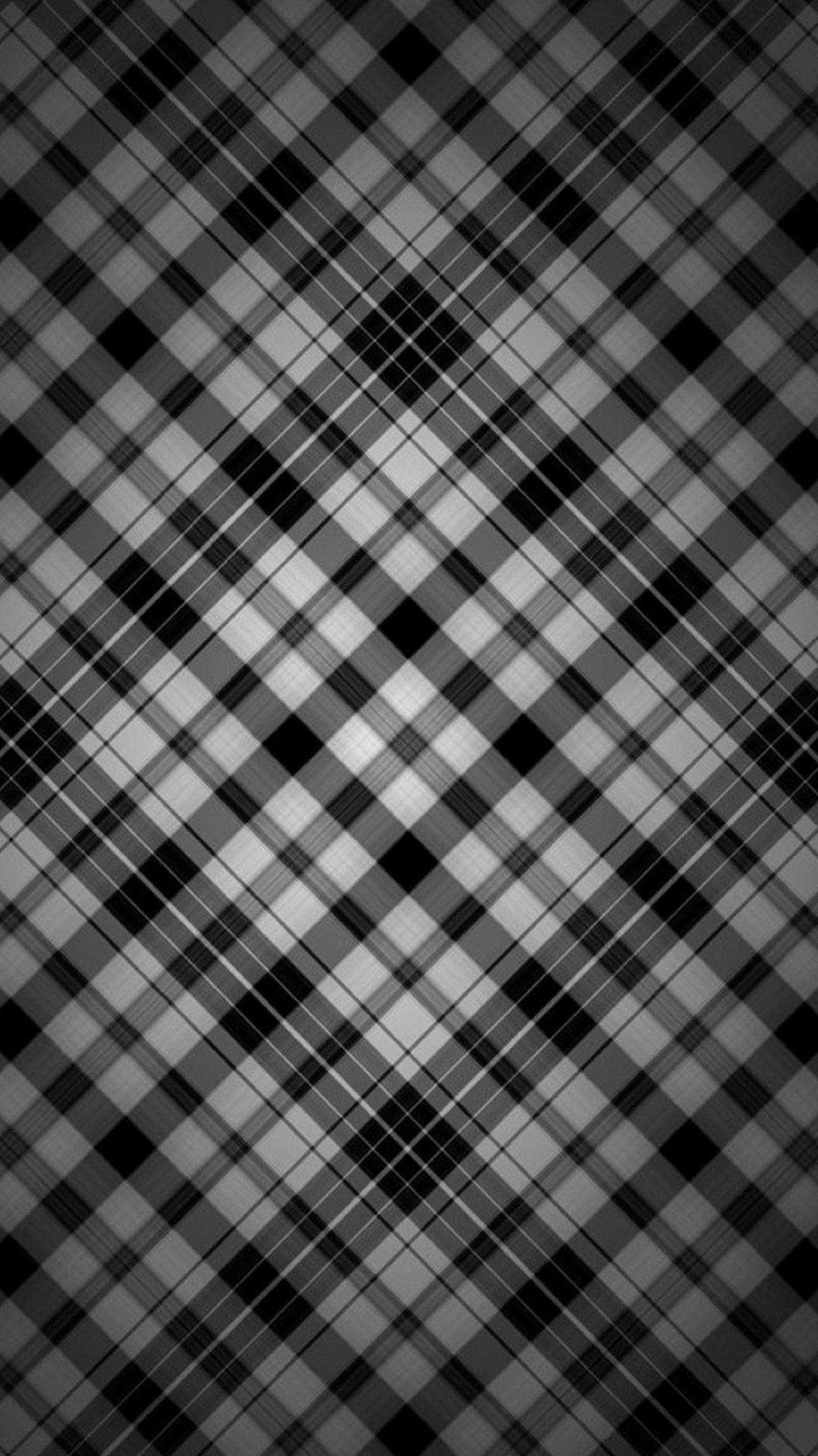 Black And White Check Patterns Iphone Wallpaper Black Wallpaper