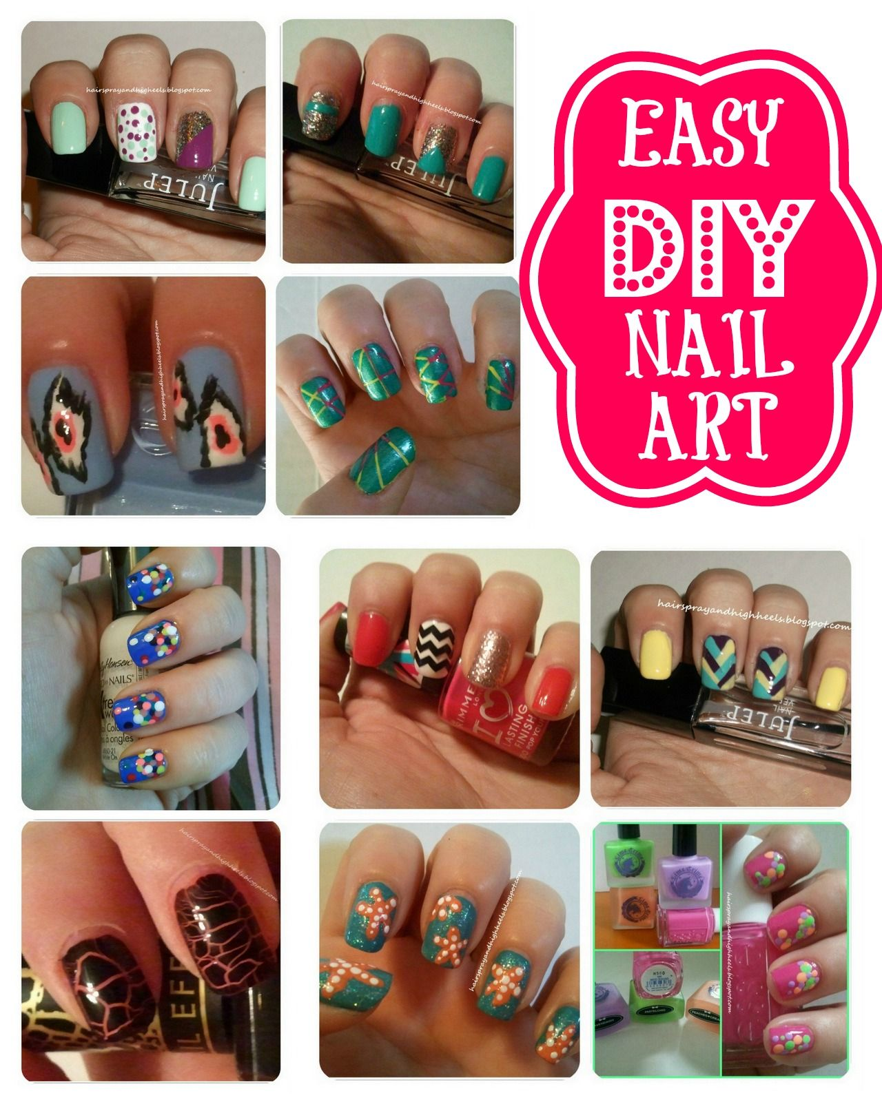 Diy gel like nails easy diy nail art easy and hairspray diy nail art archives hairspray and highheels solutioingenieria Gallery