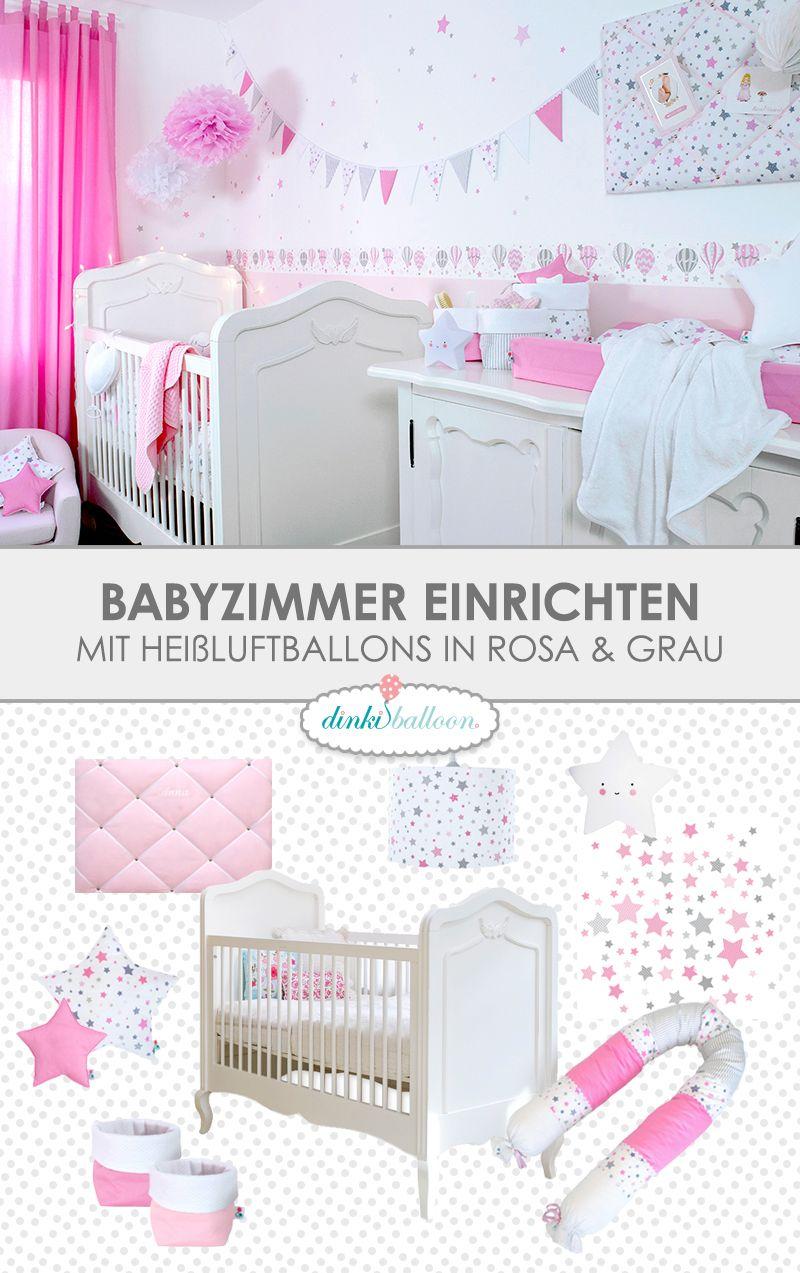 Babyzimmer Mit Heißluftballons In Rosa U0026 Grau   Einrichten Kann So Einfach  Sein! Diesen Fertigen