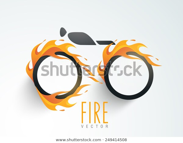 Stylish Blank Sticker Tag Label Fire Stock Vector Royalty Free 249414508 Di 2020