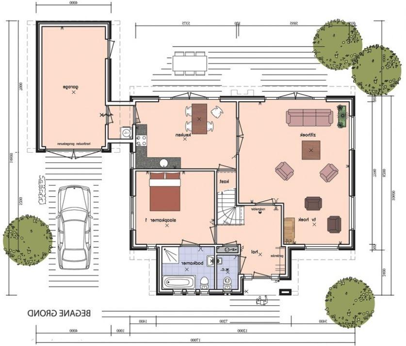 Afbeeldingsresultaat voor plattegrond woning met slaapkamer beneden ...