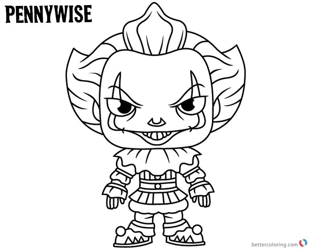 pennywise the clown coloring pages Free http://www ...
