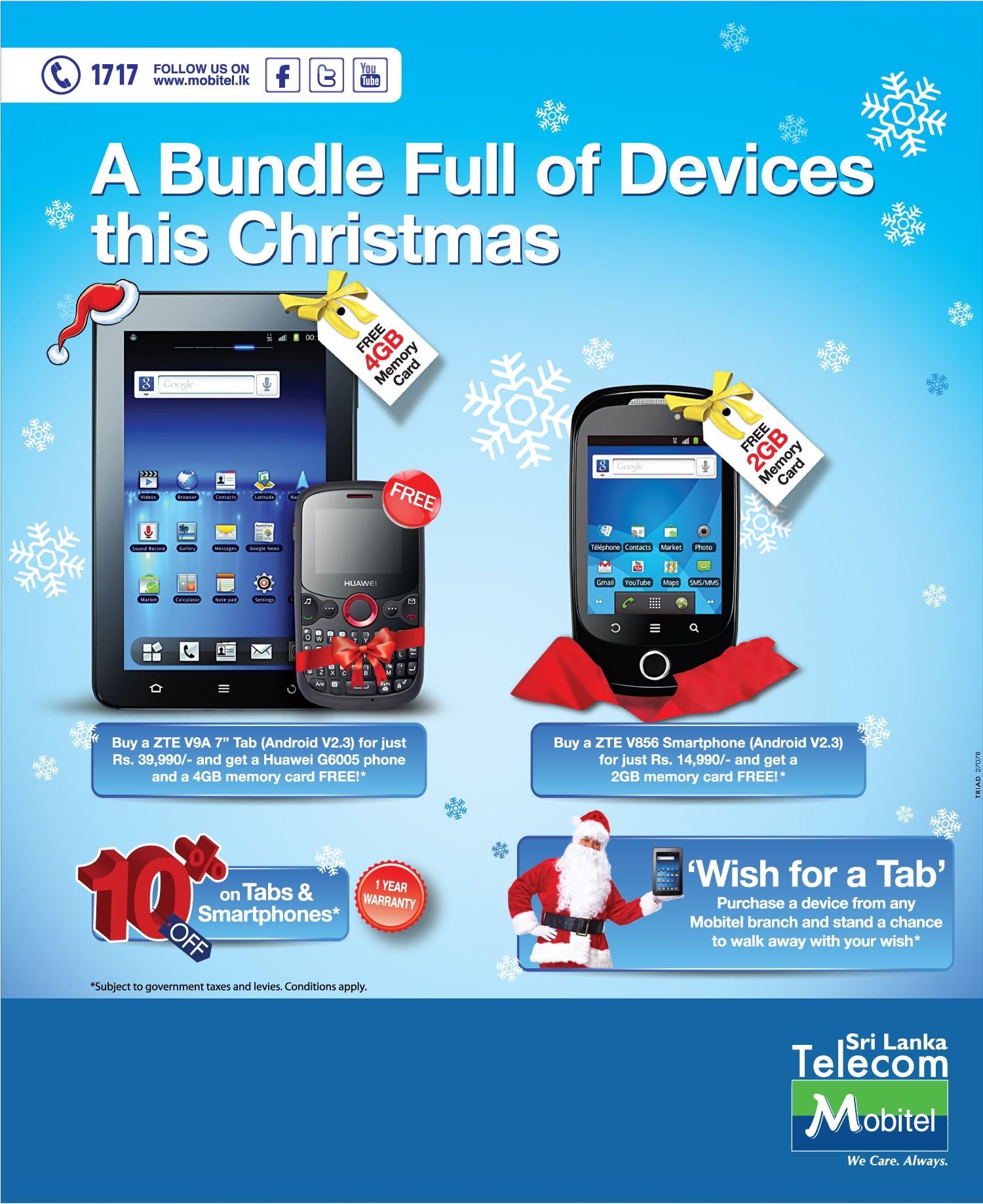 A Bundle Full Of Devices This Christmas From Mobitel