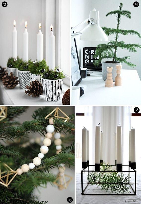 augenschmaus 40 skandinavisch angehauchte weihnachtsdeko ideen weihnachtsdeko pinterest. Black Bedroom Furniture Sets. Home Design Ideas