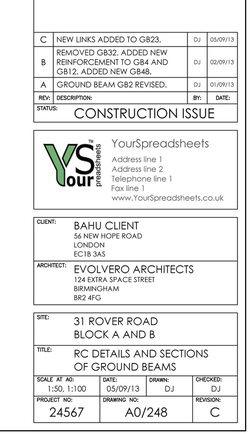 Sample Architectural Drawings Title Blocks Visicom Yahoo