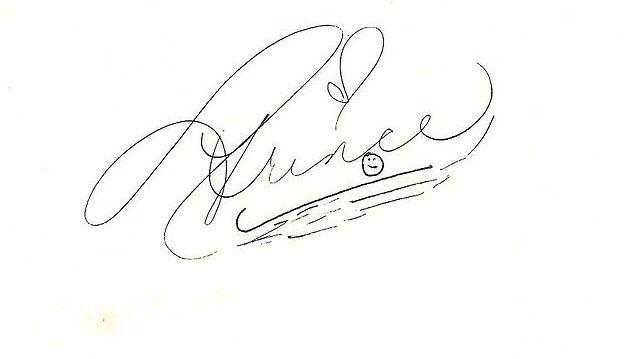 con autografo Prince