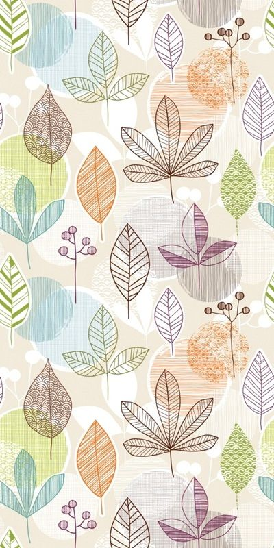 Lined Leaves - Removable Wallpaper