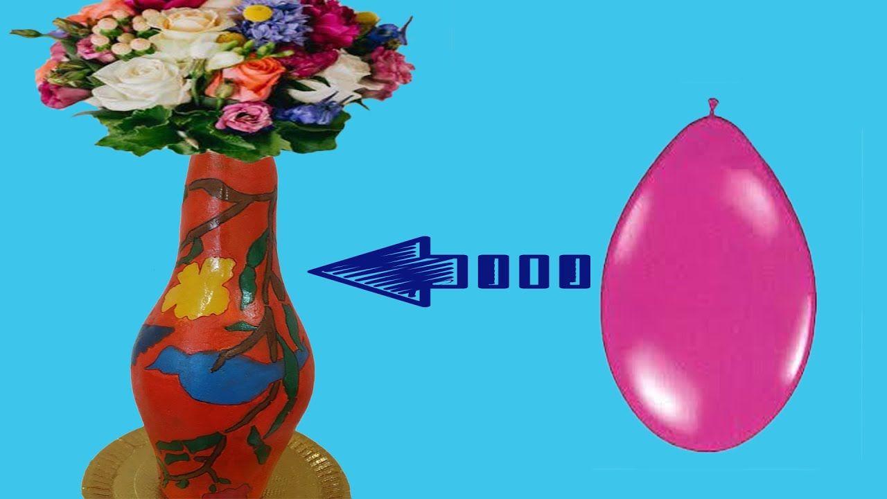عمل فازة ورد لون برتقالي Make A Vase Of Flowers Orange Balloons Flower Making Flower Vases