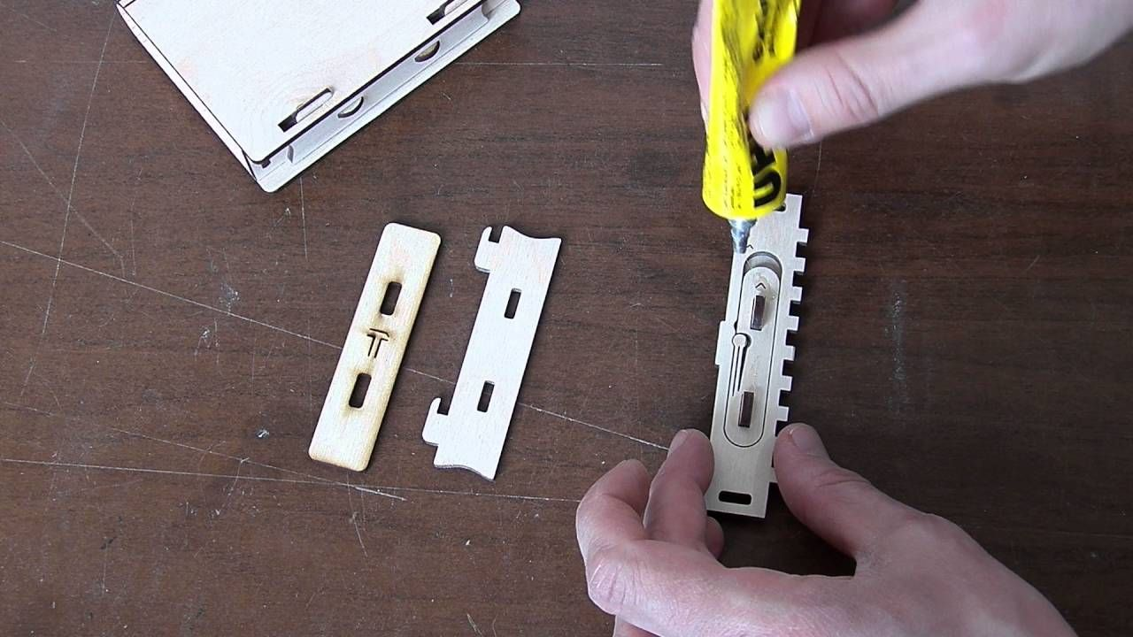 How to assemble Wooden sliding bolt latch spring loaded. Size 1 http ...