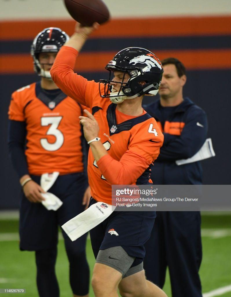 Brett Rypien Qb Practices During The Denver Broncos Rookie