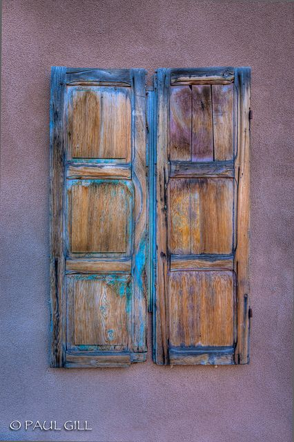 Santa Fe Shutters Jpg Santa Fe Decor Santa Fe New Mexico Homes
