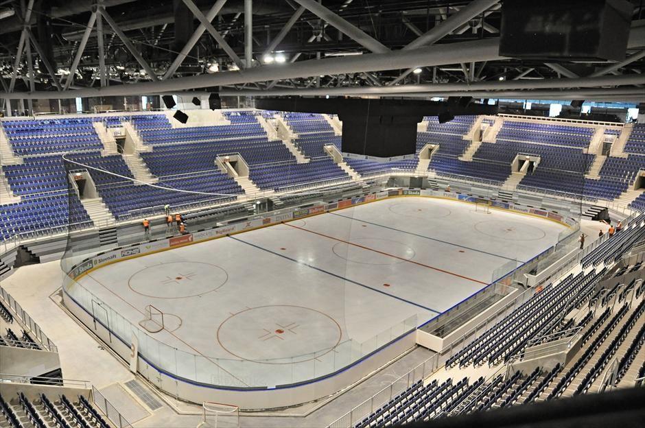 Empty Ice Hockey Stadium Ice Hockey Hockey Stadium