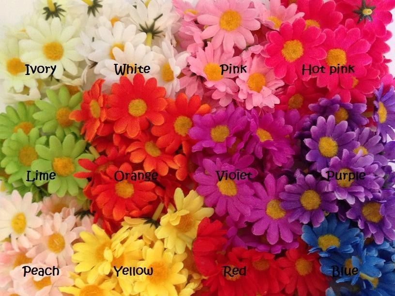 24 mini silk flower daisies 175 artificial flowers wholesale new 24 mini silk flower daisies 1 5 artificial flowers wholesale flower heads mightylinksfo